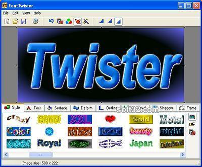3D FontTwister text & button maker Screenshot 2