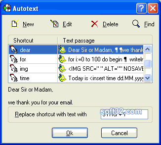 RapidKey Autotext Screenshot 2
