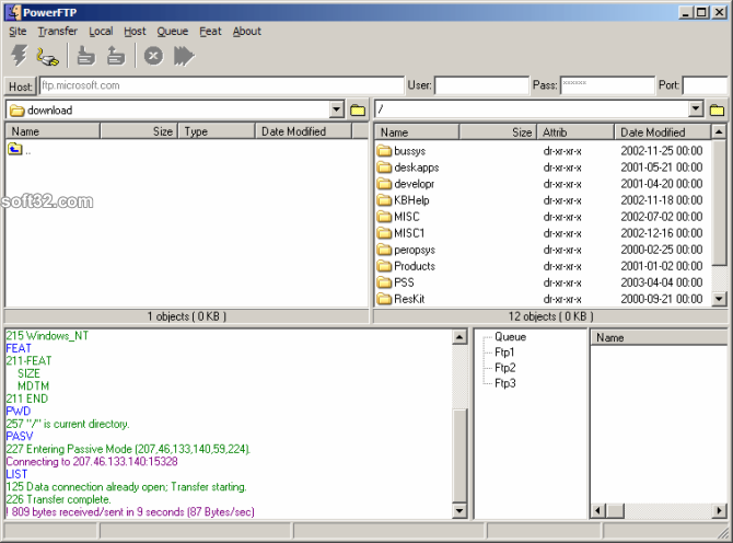 PowerFTP Screenshot 2