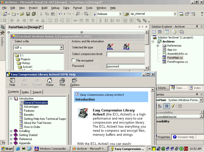ActiveX Easy Compression Library Screenshot