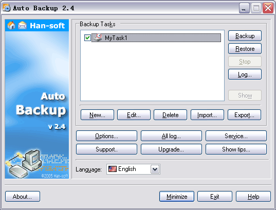 Han-Soft Auto Backup Screenshot