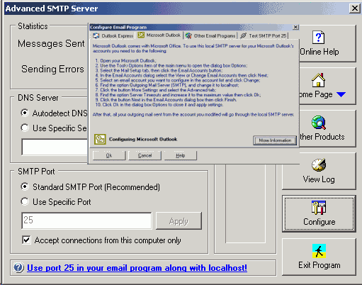 Advanced SMTP Server Screenshot 1