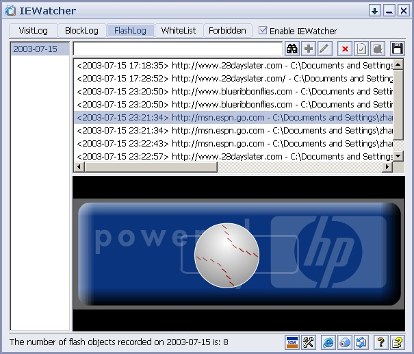 IEWatcher Screenshot
