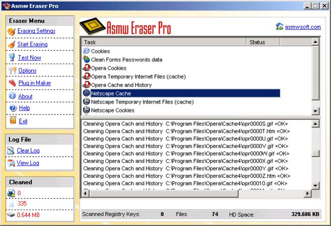 Free Asmw Eraser Pro Screenshot 1