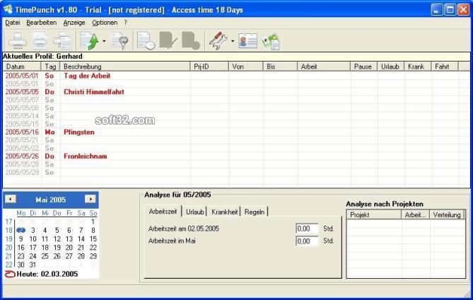TimePunch Screenshot 3
