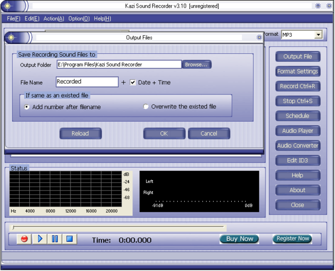 Kazi Sound Recorder Screenshot