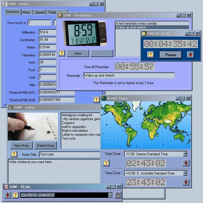 SAM Screenshot