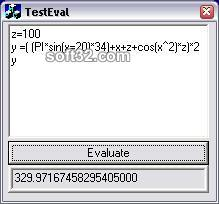 AxEval Expression Evaluator ActiveX Control Screenshot 2