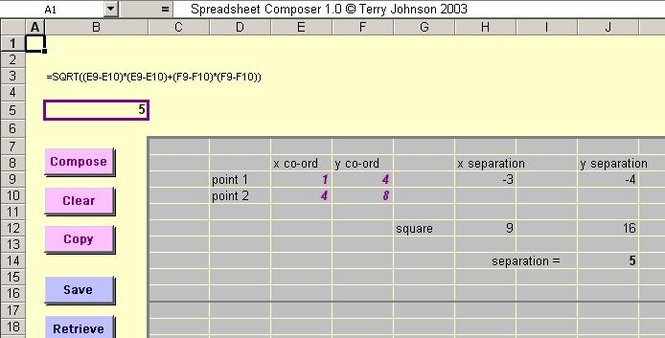 Spreadsheet Composer Screenshot 1