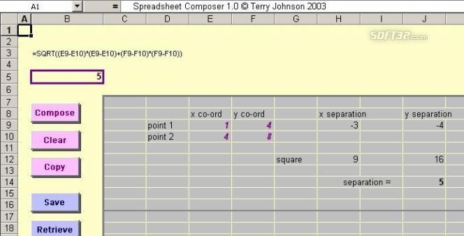 Spreadsheet Composer Screenshot 3