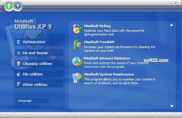 MindSoft Utilities 2009 for Windows XP Screenshot 3