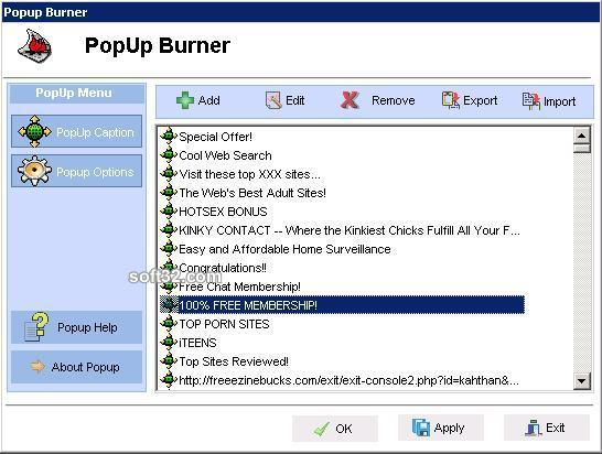 PopUp Burner Screenshot 2