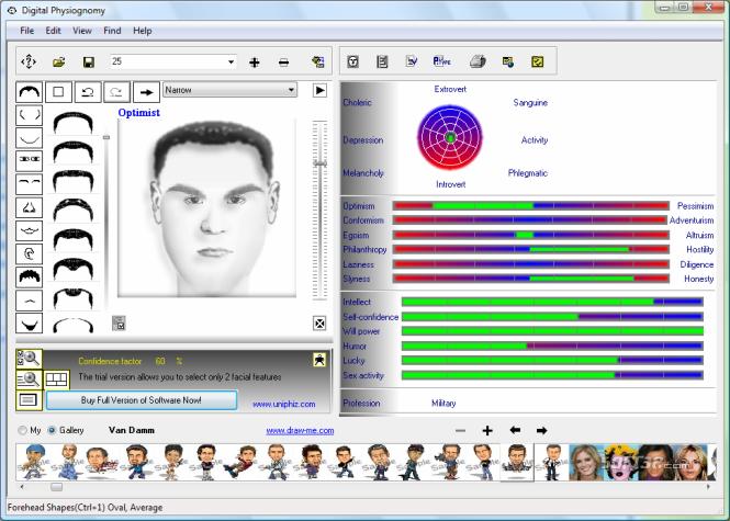 Digital Physiognomy Screenshot 2