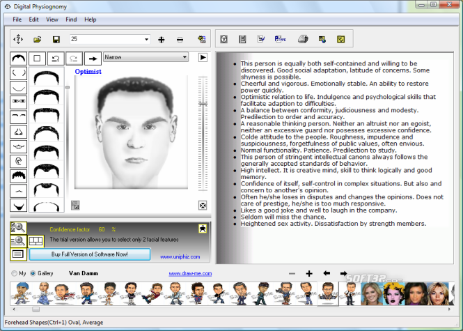 Digital Physiognomy Screenshot 3