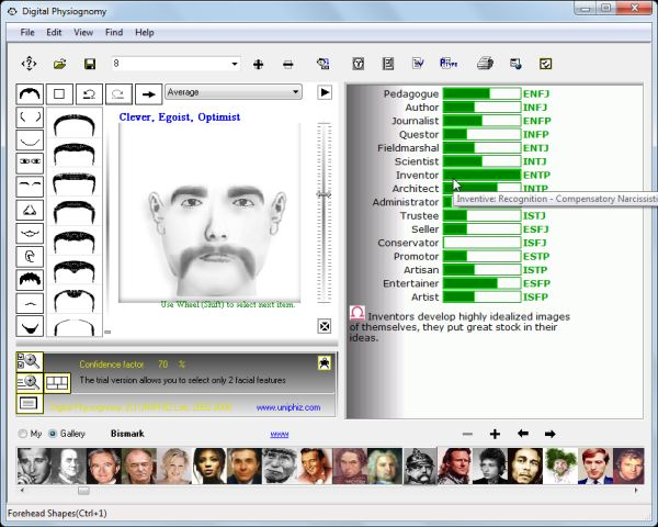 Digital Physiognomy Screenshot
