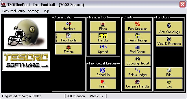 TSOfficePool - Pro Football Screenshot
