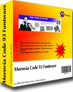 Morovia Code 93 Barcode Fontware Screenshot