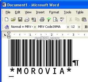 Morovia Code 93 Barcode Fontware Screenshot 3
