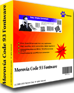 Morovia Code 128 Barcode Fontware Screenshot