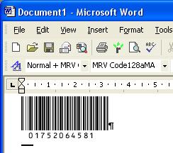 Morovia Code 128 Barcode Fontware Screenshot 2