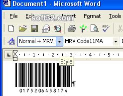 Morovia Code 11 Barcode Fontware Screenshot 3