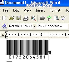 Morovia Code 25 Barcode Fontware Screenshot 3