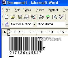Morovia MSI Plessey Barcode Fontware Screenshot 3