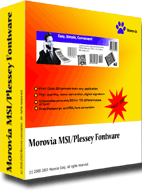 Morovia MSI Plessey Barcode Fontware Screenshot