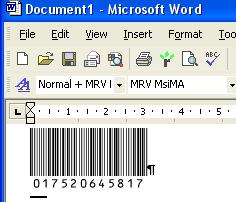 Morovia MSI Plessey Barcode Fontware Screenshot 2