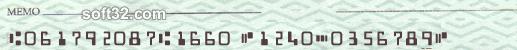 Morovia MICR/E-13B Fontware Screenshot 2