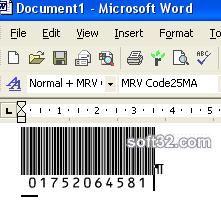 Morovia Interleaved 25 barcode Fontware Screenshot 3