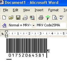 Morovia Interleaved 25 barcode Fontware Screenshot 2