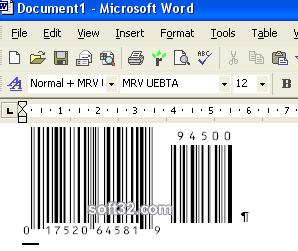 Morovia UPC-A/UPC-E/EAN-8/EAN-13/Bookland Barcode Font Screenshot 2