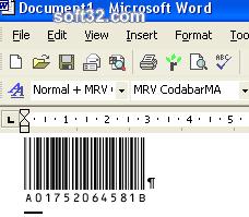 Morovia Codabar Barcode Fontware Screenshot 3