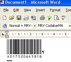 Morovia Codabar Barcode Fontware Screenshot 2