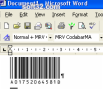 Morovia Codabar Barcode Fontware 3