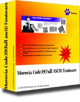 Morovia Code39 (Full ASCII) Barcode Fontware Screenshot 1