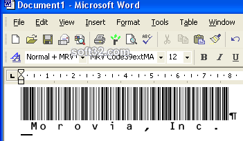Morovia Code39 (Full ASCII) Barcode Fontware Screenshot 3