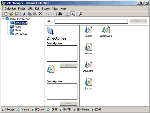 Link Manager Screenshot