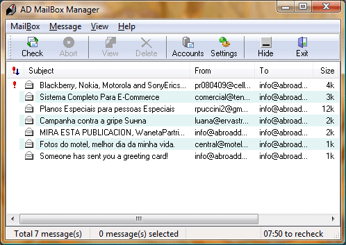 AD MailBox Manager Screenshot