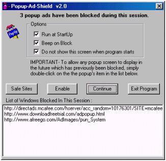 Popup Ad Shield Screenshot 1