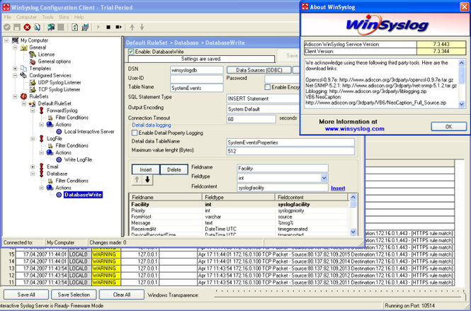 WinSyslog Screenshot