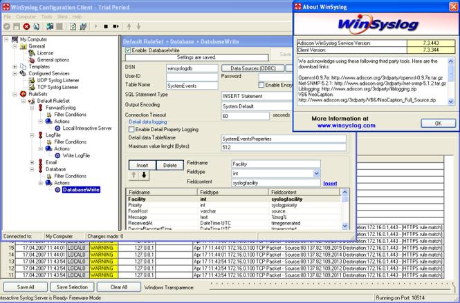 WinSyslog Screenshot 1