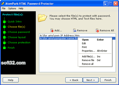 AeroTags HTML Password Protector Screenshot