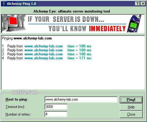 Alchemy Ping Screenshot 2