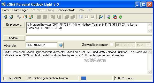 @SMS personal Outlook Light Screenshot 2