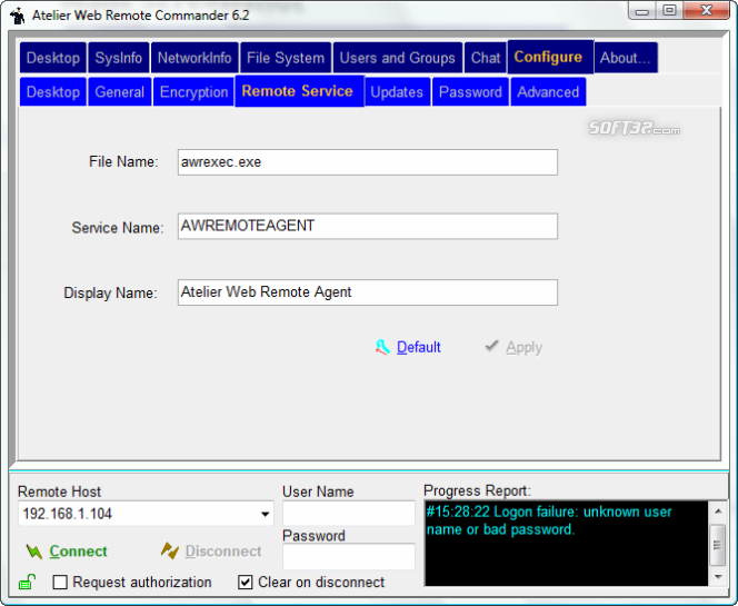 Atelier Web Remote Commander Screenshot 5