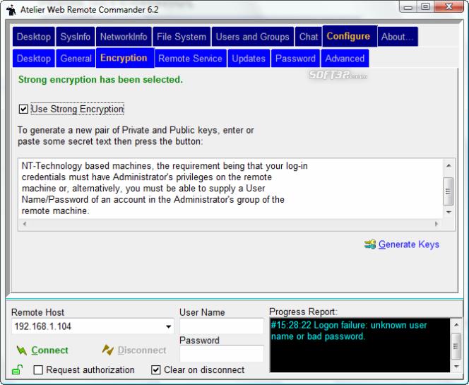 Atelier Web Remote Commander Screenshot 6