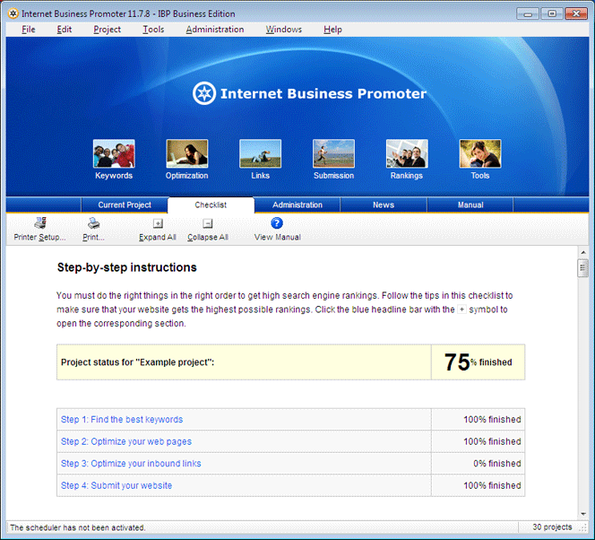 iBusinessPromoter (IBP) Screenshot