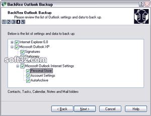 BackRex Outlook Backup Screenshot 2